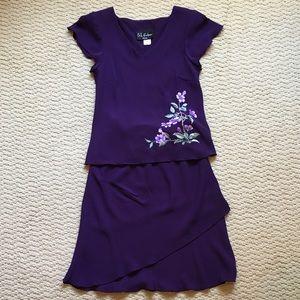 S.L. Fashions Petite Skirt Set